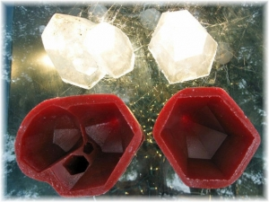 Clear Casting Epoxy Molds - 2 Large Crystals